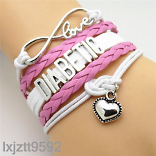 Infinity Love heart DIABETIC Bracelet charms bracelets jewelry friendship gifts#