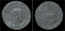 Allectus bronze quinarius galley facing right