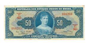 Brazil 50 Cruzeiros - ND 1961 Banknote  -  XF