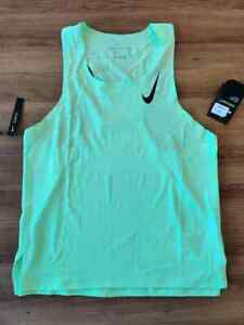 Nike Aeroswift Pro Elite 2020 Running Vest Singlet Green Medium