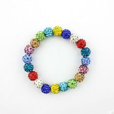 1PCS 10mm Disco Mixed Gradient Colorful Crystal Shamballa Beads 18 Colors