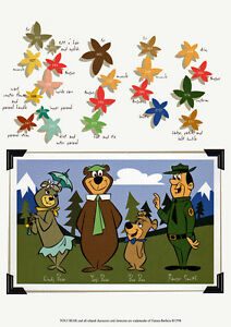 Hanna Barbera STYLE GUIDE PLATE - YOGI BEAR & GANG COLOR GUIDE