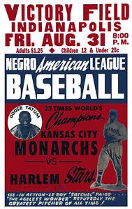 "Negro League Poster Kansas City Monarchs vs Harlem Stars - 8"" x 10"" Photo"