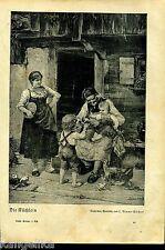 Die Küchlein -- Zeitungsausschnitt von 1926 ---