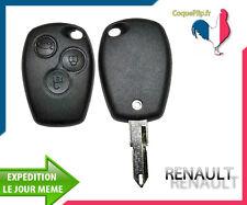 Coque Télécommande Clé Plip 3 Boutons Renault Kangoo Modus Trafic + Cle Vierge
