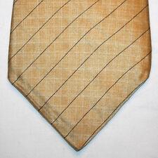 NEW Nautica Silk Neck Tie Yellow with Dark Blue and Green Plaids 1170