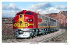 """Santa Fe Super Chief Railroad Art Print 16"""" x 24"""""""