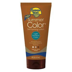 Banana Boat Self Tanning Lotion Light/Medium Summer Color for All Skin Tones,6oz