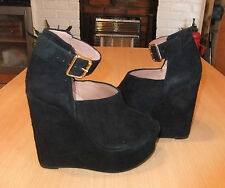 """TopShop Women's Suede Wedge Very High Heel (greater than 4.5"""") Shoes"""