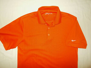 NIKE GOLF DRI-FIT SHORT SLEEVE ORANGE POLO SHIRT MENS SMALL EXCELLENT CONDITION