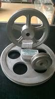 Puleggia in alluminio sezione Z ad una gola di vari diametri da 40 mm a 300 mm