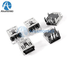 20Pcs Mini USB Type B 5-Pin Female Socket Right Angle DIP Jack Connector