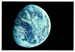 "Vintage 1968 Earth From Apollo VIII 8 - A NASA Photo 4"" x 6"" Postcard Post Card"