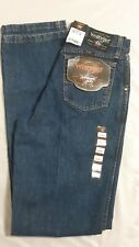 Wrangler PBR Jeans NWT Relaxed Fit Mens Size 28x36 Brand New Dark Wash