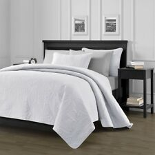 Pinsonic Quilted Austin Oversize Bedspread Coverlet  3-piece King Set, White