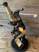 Stunning Antique 19th Century Microscope Carl Zeiss Jena Refractor Very Rare