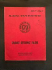 Marine Corps Institute Student Reference Folder MCI 04.10b-2 1984
