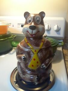 Vintage Mccoy Pottery Hamm's Bear Cookie Jar Estate