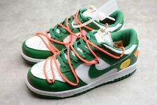 Men's Shoes NIKE OFF WHITE GREEN PINE DUNK LOW LTHR OW Sneakers