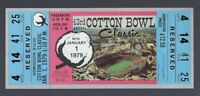 VINTAGE 1979 NCAA COTTON BOWL FULL TICKET - NOTRE DAME - MONTANA CHICKEN SOUP