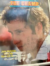 JOHN McENROE signed 1981 Sports Illustrated tennis magazine cover  Autographed