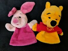 Winnie the Pooh and Piglet Hand Puppets Plush