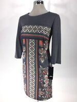 MADISON LEIGH NWT Elegant Soft Printed Sheath @ Work Dress size 4 6 10 12 14 16