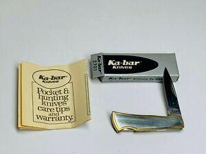 Ka-Bar Japan vintage pocket knife model 2701 nice single blade lockback