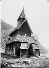 Photo. ca 1884. Sogn, Norway. Urnes Stave Church in Lyster