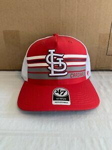 St. Louis Cardinals MLB '47 Brand Red MVP Adjustable Mesh Snapback Hat New