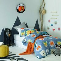 Jiggle & Giggle Kids Boys Funny Faces Doona Quilt Cover Set Single|Double|Queen