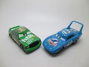 Disney Pixar Cars Lot 2 cars #43 King & #86 Chick Hicks Diecast No Box