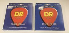 DR CBE-10 Extra Life Cool Blue Coated Guitar Strings 10-46 Lot Of 2