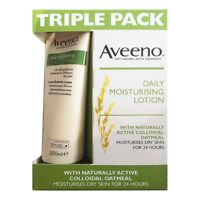 Aveeno 3 x 200ml Daily Moisturising Lotions Triple Pack For Dry Skin 24 Hours