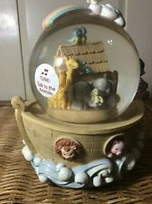 "Vintage Noah's Ark Musical Snow Globe Agc ~ Plays ""Talk to the Animals"" Music"