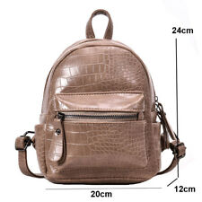Mini Crocodile pattern Backpack For Women Girls PU Leather Backpacks Fashion
