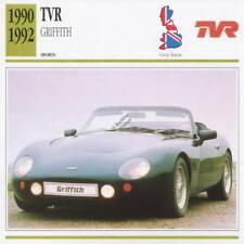1990-1992 TVR GRIFFITH Sports Classic Car Photo/Info Maxi Card