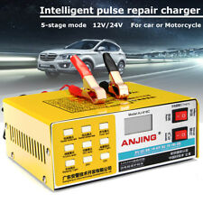 12V/24V LED Caricabatterie Mantenitore Batteria INTELLIGENT Auto Moto Portatile