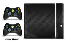 Skin Decal Wrap for Xbox 360 E Gaming Console & Controller Sticker Design CARBON