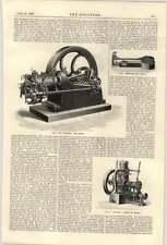1900 National Gas Engine Paragon Launch Aveling Porter Boiler