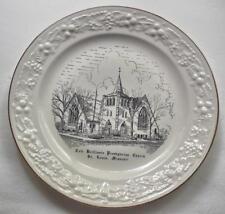 "Vintage Missouri Church Plate Cote Brilliante Presbyterian  St Louis 10"" USA"
