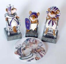 NEW Wee Forest FolkPURPLE Egyptian King, Queen, PawnChess Piece Ltd Ed w BONUS