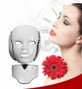 LED Light Photon Face Neck Mask Rejuvenation Skin Therapy Wrinkles 7 Colors