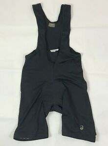 Campagnolo Black Bib Shorts Men's Size L Padded Bike Pants Made in Slovenia