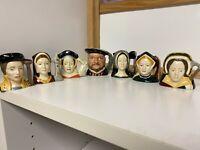 Royal Doulton Henry VIII and Six Wives D6648 D6651 D6658 D6693 D6747 D6752 D6754