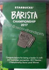 Starbucks Barista Championship 2017 Pin Store Level Winner FREE SHIP