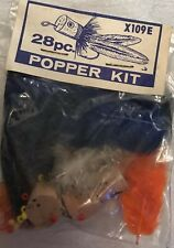 Vintage Fly Fishing 28-piece Popper Kit, Sealed in Original Package, X-109E