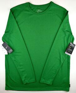 Nike Dri-Fit Irish Green Long Sleeve T-Shirt Athletic Running Gym Shirt Men's XL
