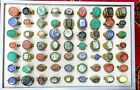 Sale   Lot of 63 pcs Old different intaglio natural stones seals Brass Rings