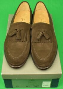 """""""Peal & Co For Brooks Brothers Dark Brown Suede Kiltie Tassel Loafers"""" 12D New!"""
